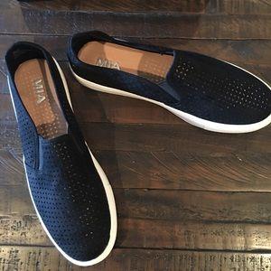 NWT Navy MIA slip on shoes
